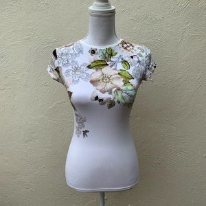 Ted Baker Gem Gardens Floral Short Sleeve Fitted T